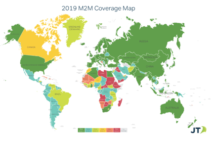 JT M2M Coverage 2019 Interactive Map